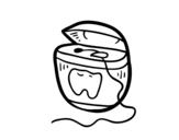 Dibujo de Hilo dental para colorear