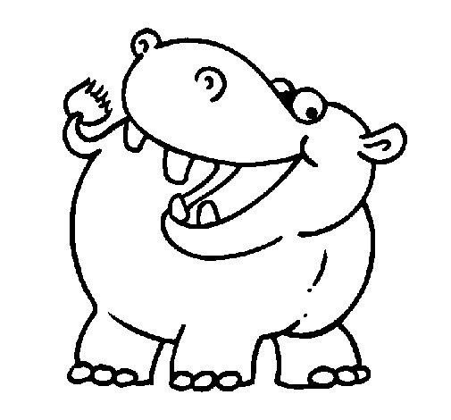 Dibujo de Hipopótamo para Colorear