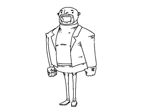 Dibujo de Hombre vestido moderno para Colorear