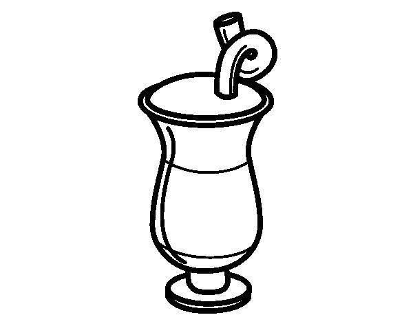Dibujo De Jugo Para Colorear: Vaso De Jugo De Naranja Para Colorear