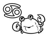 Dibujo de Horóscopo Cáncer para colorear