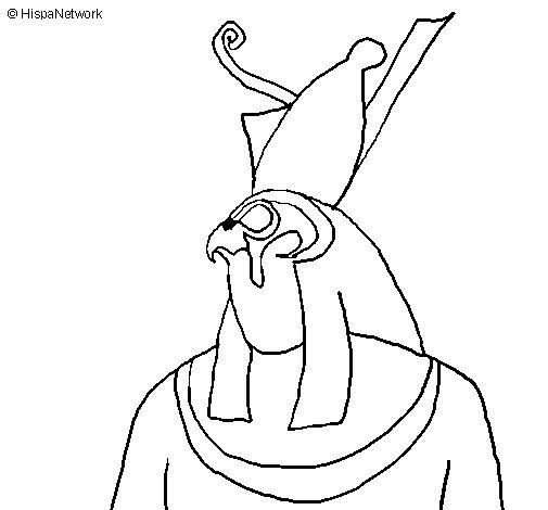 Dibujo de Horus para Colorear
