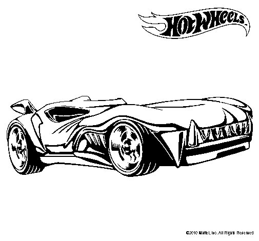 Dibujo de hot wheels 3 para colorear - Dessin hot wheels ...