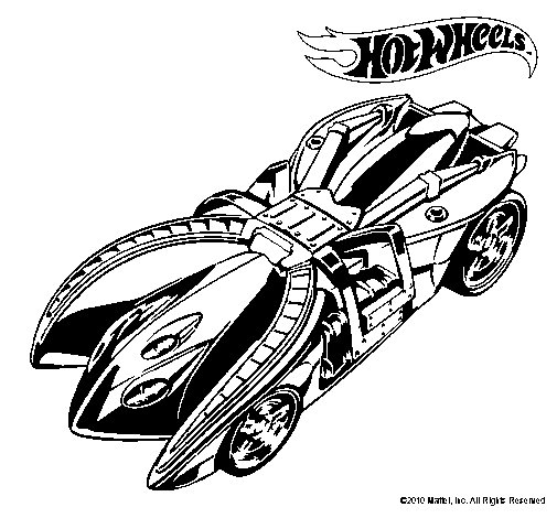 Dibujo de Hot Wheels 7 para Colorear - Dibujos.net