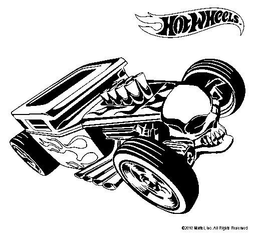 Dibujo De Hot Wheels 8 Para Colorear Dibujos Net