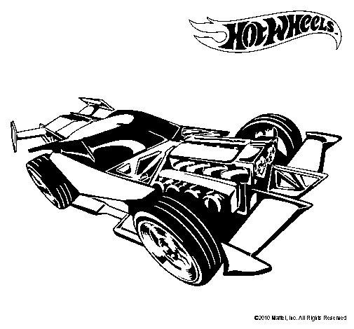 Dibujo de Hot Wheels 9 para Colorear