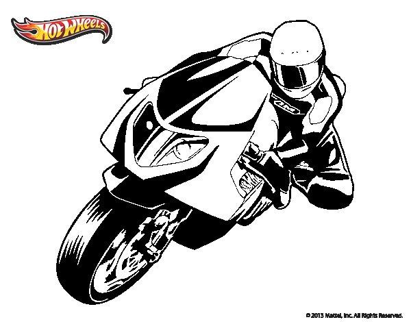 Dibujo de Hot Wheels Ducati 1098R para Colorear - Dibujos.net