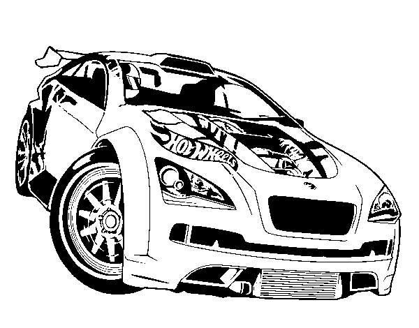 Dibujo de Hot Wheels Megane Trophy para Colorear - Dibujos.net