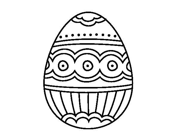 Dibujo de Huevo de fabergé para Colorear - Dibujos.net