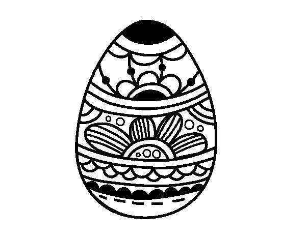 Huevos Para Pintar. Mandalas De Ovo De Pscoa Para Imprimir E Pintar ...