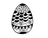 Dibujo de Huevo de Pascua estilo japonés