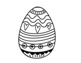 Dibujo de Huevo de Pascua para decorar