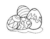 Dibujo de Huevos de pascua para colorear