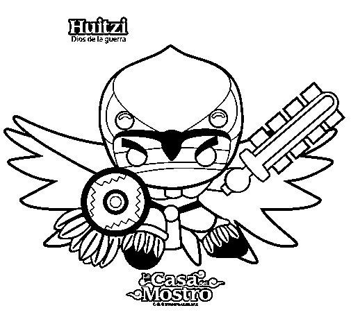 Dibujo de Huitzi para Colorear