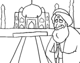 Dibujo de India 1 para colorear