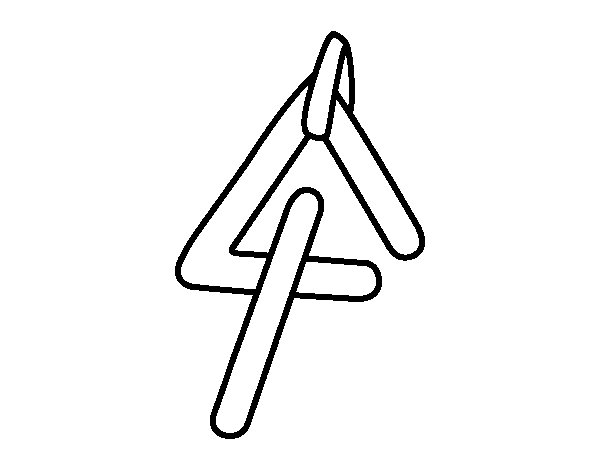 Dibujos De Instrumentos Musicales Para Imprimir Y Colorear: Dibujo De Instrumento Triangulo Para Colorear