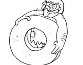Dibujo de Inventando la rueda para colorear