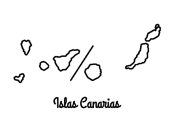 Dibujo de Islas Canarias para Colorear