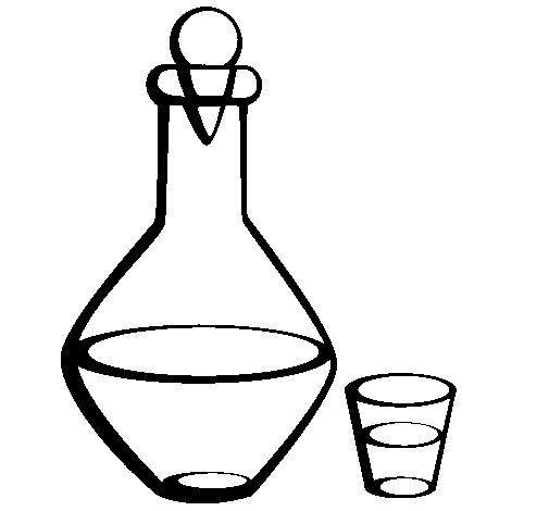 Dibujo de Jarra y vaso para Colorear