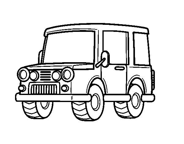Dorable Jeep Wrangler Para Colorear Regalo - Ideas Para Colorear ...