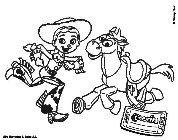 Dibujo de Jessie y Perdigón para Colorear - Dibujos.net