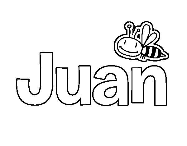 San Antonio En Dibujos Animados: Dibujo De Juan Para Colorear