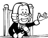 Dibujo de Juez para colorear