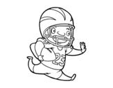 Dibujo de Jugador de fútbol americano para colorear