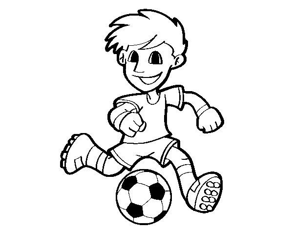Dibujo De Jugador De Fútbol Con Balón Pintado Por Guguimdq: Dibujos De El Futbol