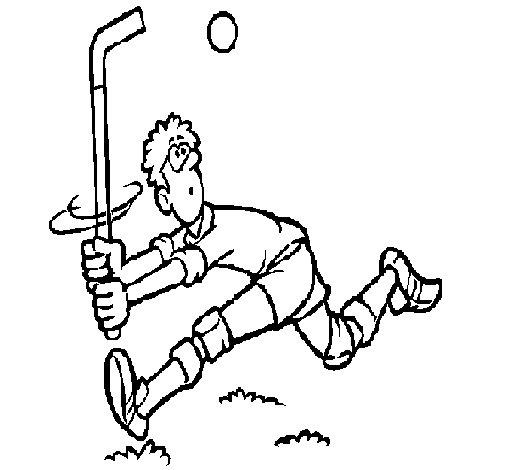 Dibujo de Jugador de hockey sobre hierba para Colorear