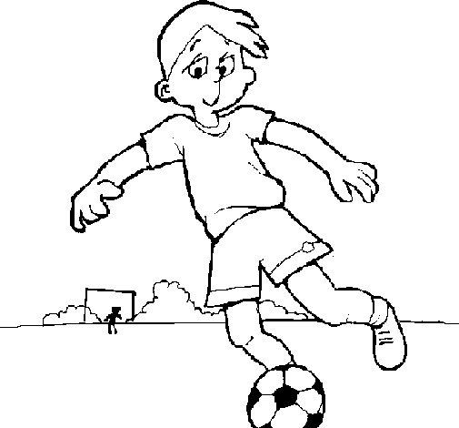 Dibujo de Jugar a fútbol para Colorear