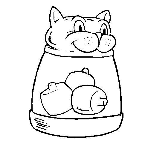 Dibujo de Juguete felino para Colorear