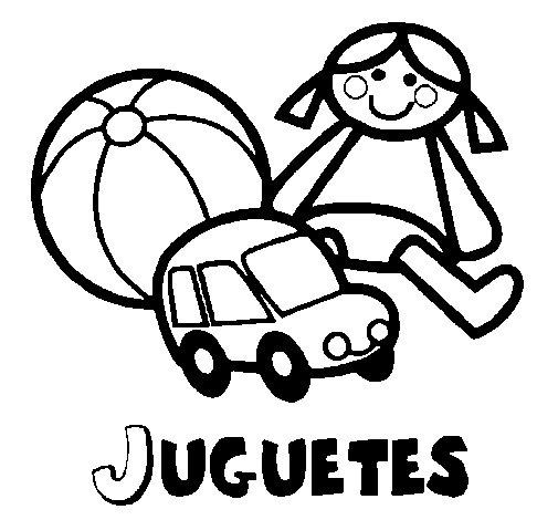 Dibujo de Juguetes para Colorear - Dibujos.net