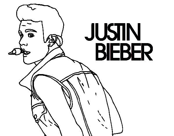 Famoso Justin Bieber Para Colorear Páginas Para Imprimir Motivo ...