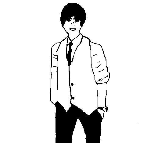 Dibujo de Justin para Colorear