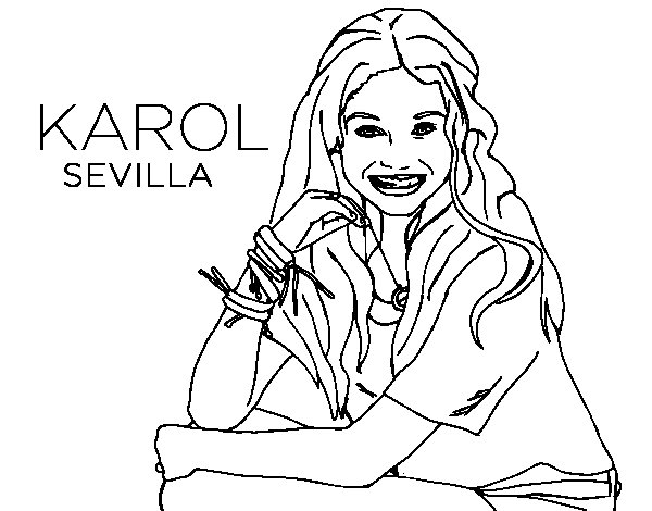 Dibujos De La Luna Para Colorear E Imprimir: Dibujo De Karol Sevilla De Soy Luna Para Colorear