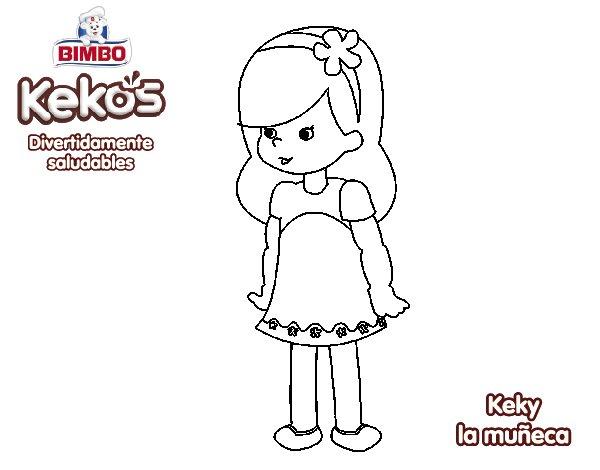 Dibujo de Keky la muñeca para Colorear - Dibujos.net