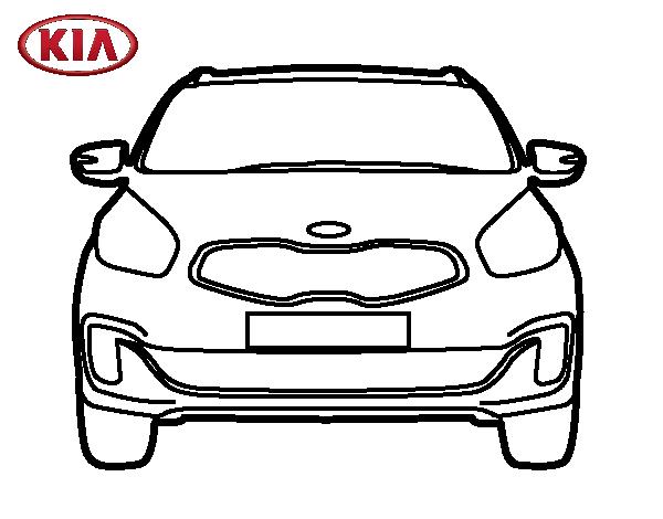 dibujos de auto frontal para pintar