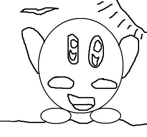 Dibujo de Kirby para Colorear