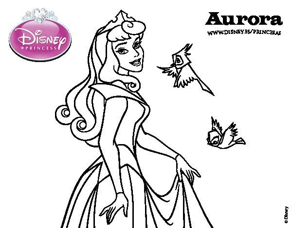 21 Dibujos Para Colorear De Princesas Disney: Download Image Dibujo De La Bella Durmiente Aurora Para