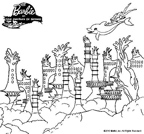 Dibujo de La ciudad de las sirenas para Colorear - Dibujos.net