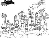 Dibujo de La ciudad de las sirenas para colorear