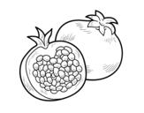 Dibujo de La granada para colorear