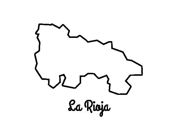 Dibujo de La Rioja para Colorear