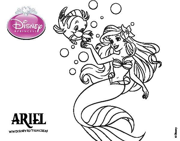 Ariel La Sirenita Para Colorear Para Dibujos De La: Dibujo De La Sirenita Para Colorear, Hd 1080p, 4k Foto