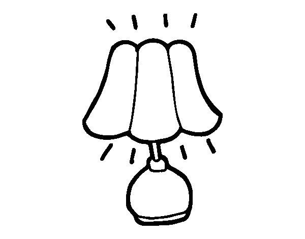 Lamp coloring page - Lamparitas de noche ...