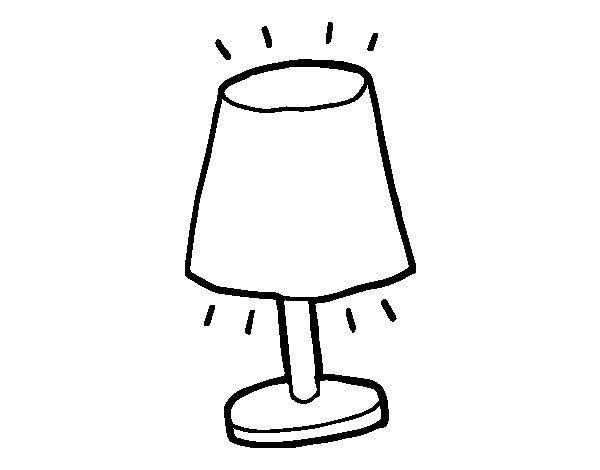 Dibujo de l mpara peque a para colorear - Pintar lamparas de techo ...