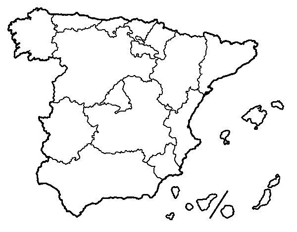 Dibujo De Las Comunidades Autónomas De España Para