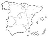 Dibujo de Las Comunidades Autónomas de España para colorear