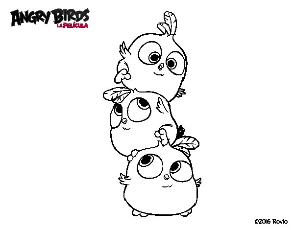 Dibujo de Las crias de Angry Birds para Colorear - Dibujos.net